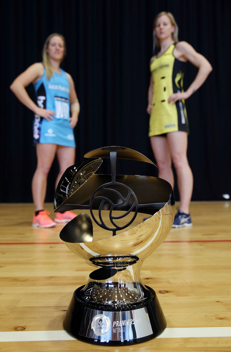 Symbol of victory: the ANZ Premiership trophy